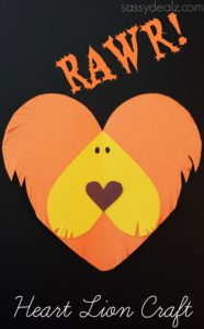 Crafty Morning has come up with this RAWR-some Lion Heart Craft that we love for those who aren't so into pink!